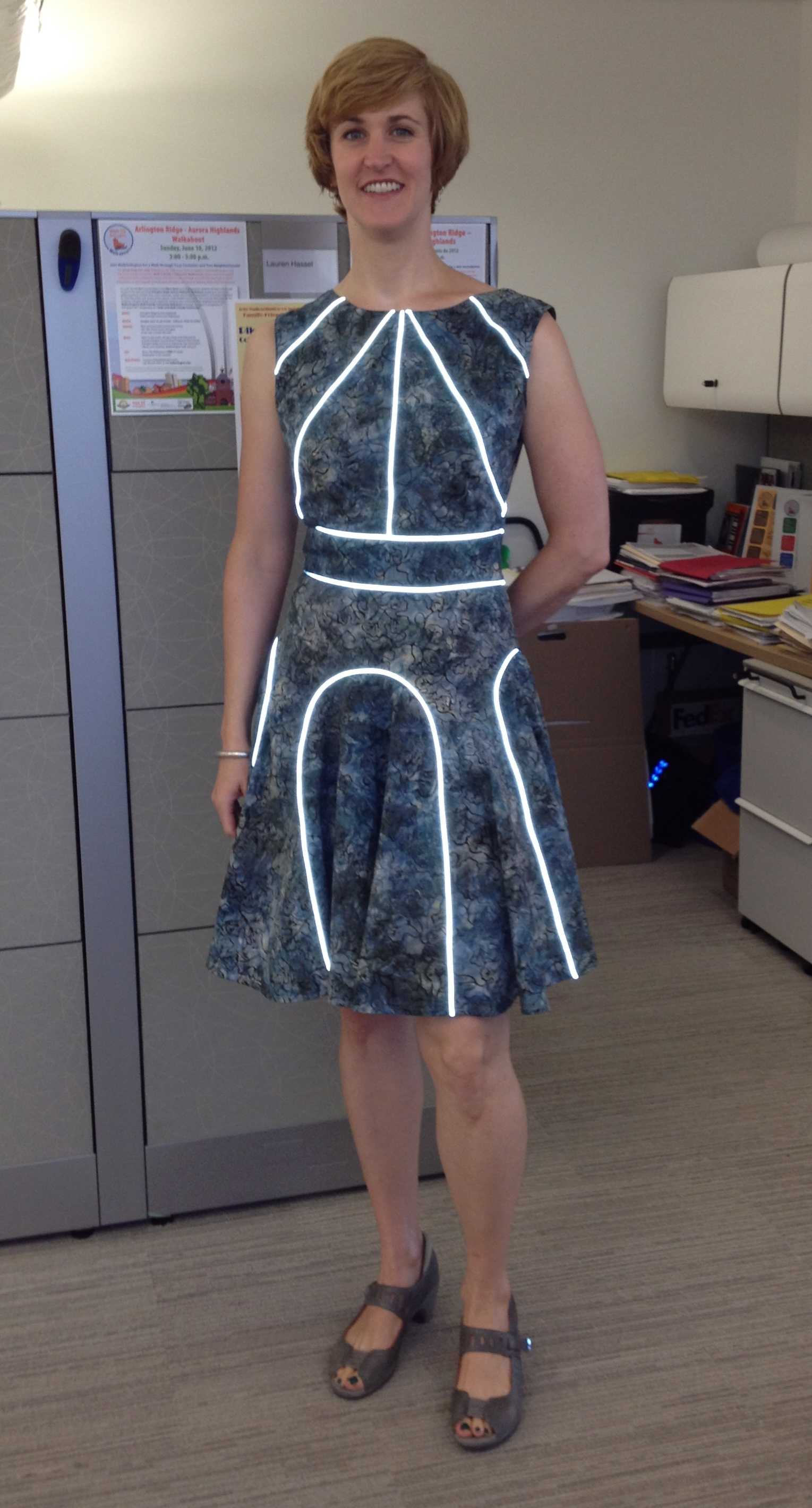 My Lovely Reflective Bicycle Dress Tinlizzieridesagain