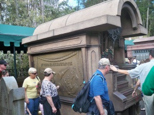 "The interactive ""organ"" while standing in line for the Haunted Mansion - totally fun!"
