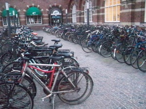 Just one of the bike lots around the Central Station!