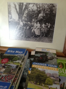 Photo of Victorian lady cyclists (and not-so-subtle plug for BikeArlington!)