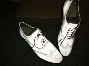 Cole Haan shoes reflected
