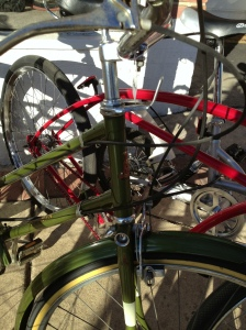 Vintage Raleigh with a really cool fork crown.