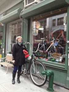 In front of Zen Bikes.