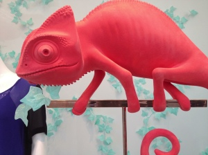 Aritzia chameleon from the window display - cute!