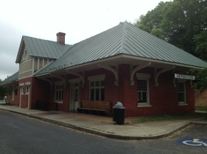 This old train station is now a dentist office!