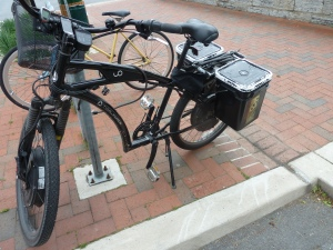 ... next to this unusual ebike....