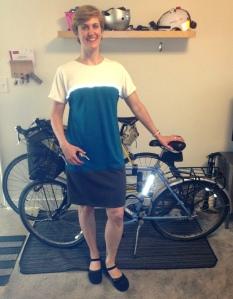 ...Bike to Work Day dress with flash.