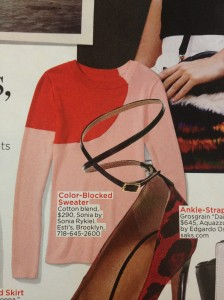 Colorblocked sweater - like these colors.
