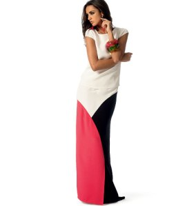 McCalls 6755 - colorblocked skirt, which I love and is completely impractical for my life.