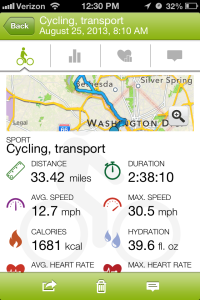 Rev Cycles ride stats. I'm still horrifically slow.