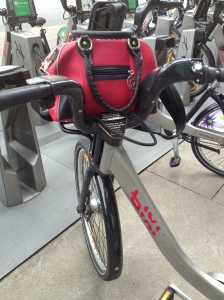 GiveLoveCycle on a Bixi bike!
