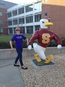 With the Salisbury University Sea Gull the night before
