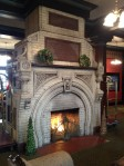 The imposing fireplace in the Crescent