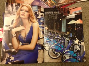 I would color-coordinate my evening gown with the local bikeshare bikes, wouldn't you?