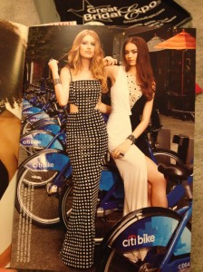 Not that they can easily ride a Citibike in these dresses....