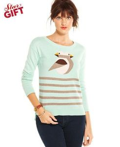 Macy's Maison Jules Birds Sweater (they remind me of one of my favorite artists, Charley Harper)