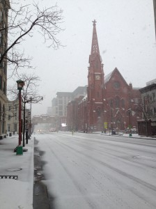 Of course the streets were empty - everything was shut down for the storm.