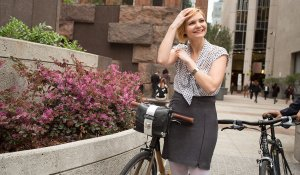 Betabrand Bike to Work Skirt, modeled by Bike Pretty's Melissa. Image from Betabrand website.