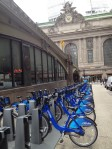 Grand Central Station and a Citibike station