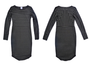 Love the way the stripes are pieced in the back of this dress. Image from Quick Study website.
