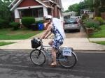 Bike helmet veil in action!