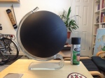 Oh yeah - matte black chalkboard paint globe. Awesome.