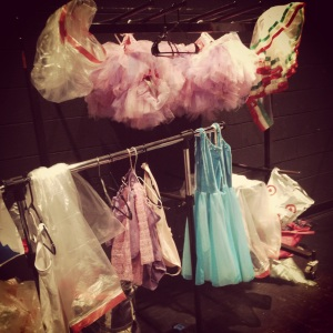 I volunteered at their Spring recital to help dress baby ballerinas.