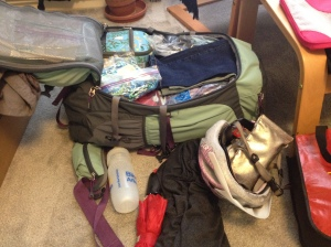 All this stuff in one large travel pack!