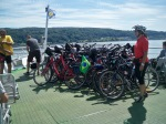 We were not the only bikes on the ferries we took!