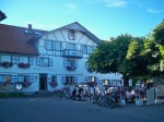 Gasthof zur Kapelle, in Nonnenhorn, with the biergarten out front!