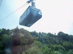 The cable car headed to the top of Pfaender Mountain, in Bregenz, Austria