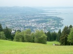 View of Bregenz from the mountain top