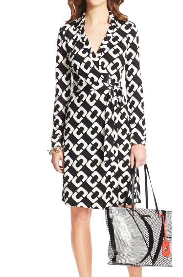 Diane von Furstenberg's iconic wrap dress