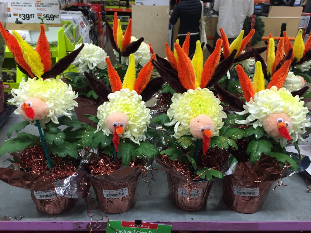 Home Depot Flower Turkeys