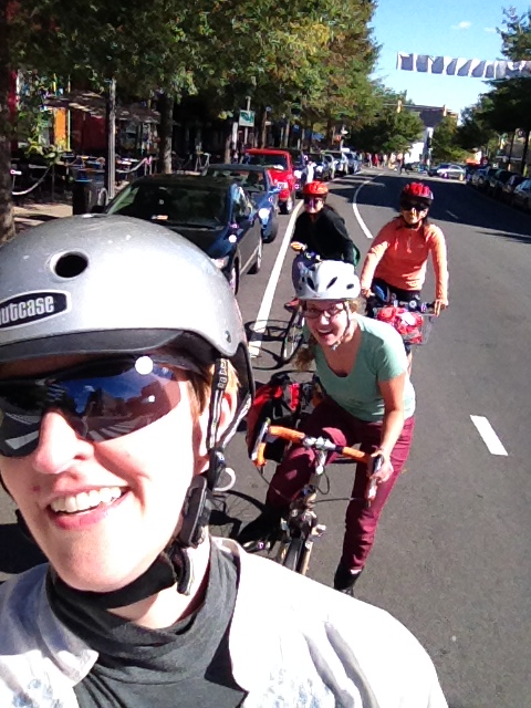 Ladies biking in Arlington for fun - smart, stylish and sexy!