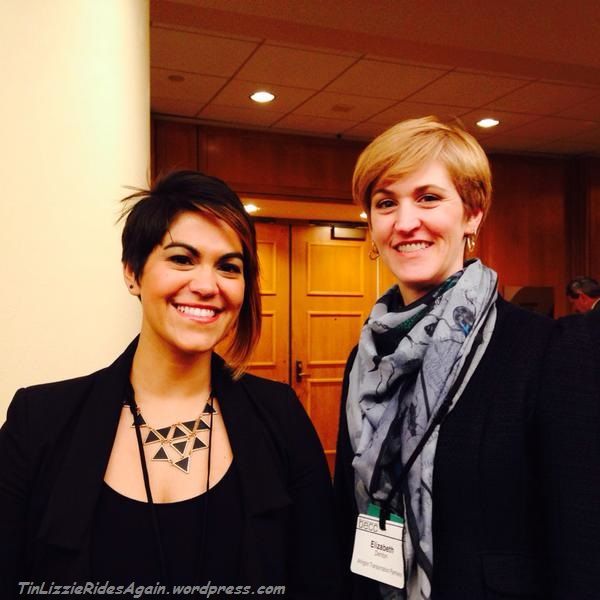 Illume Tweeted this photo of my colleague Maggie and I as #womeninenergy