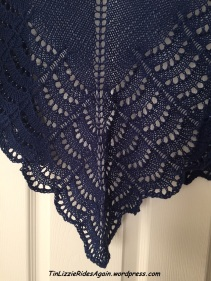 Beaded scallops on my new shawl