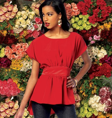 McCalls 6794 blouse, with sewn-in sash