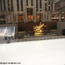 Funny, no one was ice skating in the pouring rain....