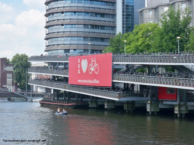 Amsterdam Bicycle Parking near the Central Station