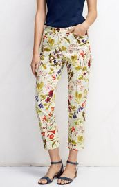 Lands End Floral Print Pants