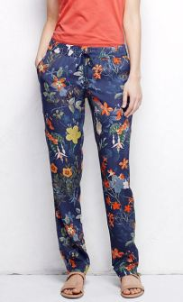 Lands End Soft Floral Print Pants