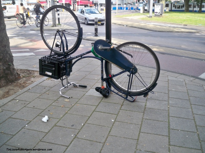 Sure, this might not be an abandoned bike. Someone may have parked it this way on purpose.