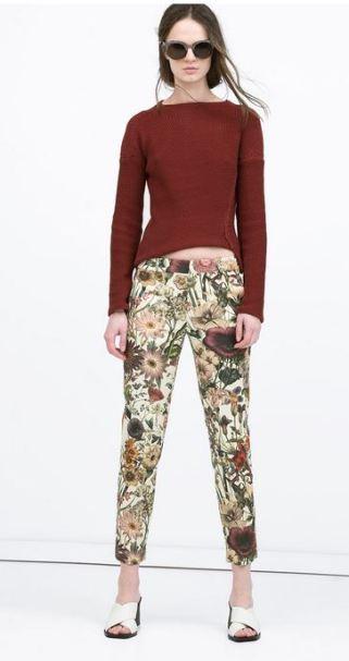 Zara Floral Print Trouser