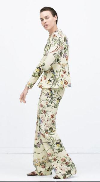 Zara Floral Print Suit