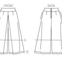Vogue 9091 Culottes - no front pleats, I distrust them.
