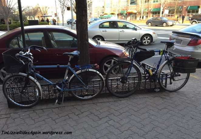 It had been a long time since our bikes were out on the town together! A little advocacy brought them out.