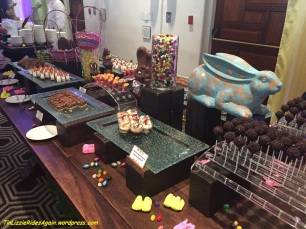 One of the Easter brunch dessert tables