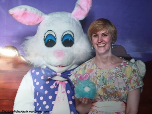 Edgar and I had to have our picture taken with the Easter Bunny!