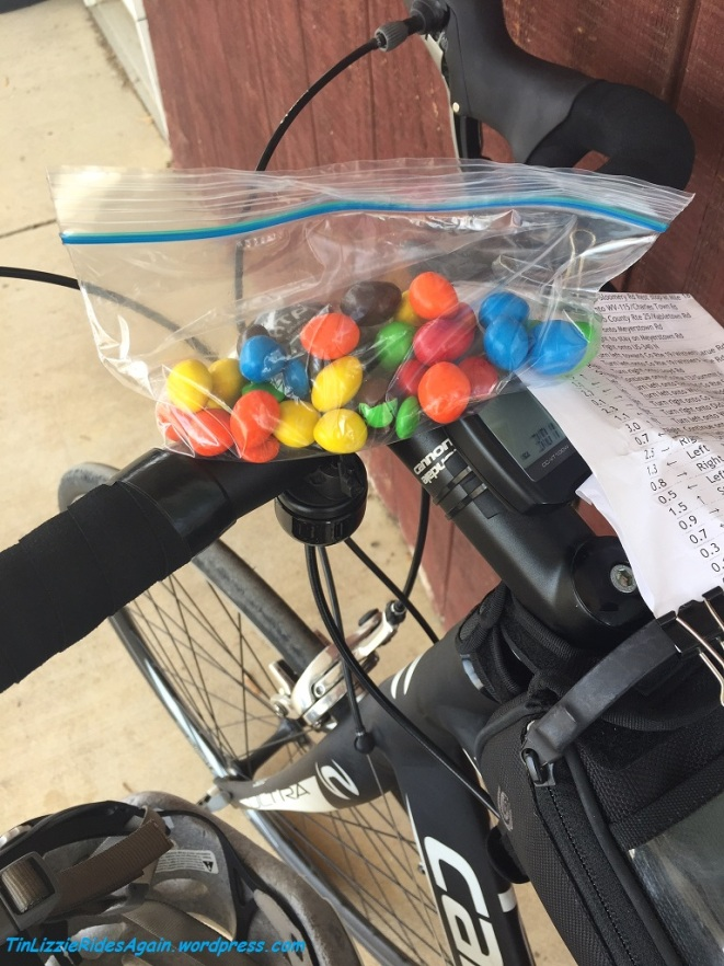 M&Ms at the 40 mile pit stop! They knew the way to my stomach, err, heart!